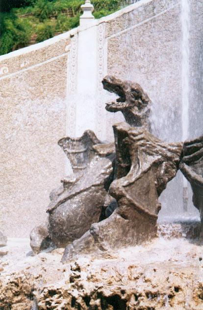 Les dragons de la villa d\'Este à Tivoli