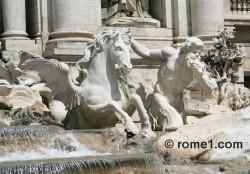 le char du dieu Océan de la fontaine de Trevi à Rome