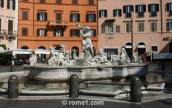 fontaine de  Neptune, place Navona