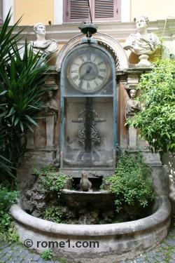 horloge à eau de Rome