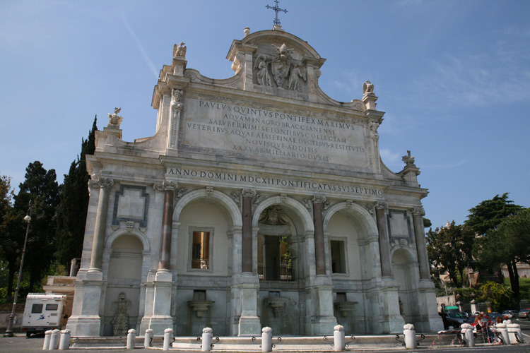 fontaine de l'Acqua Paola