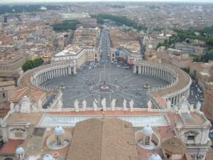 Vue panoramique sur Rome depuis la basilique Saint Pierre