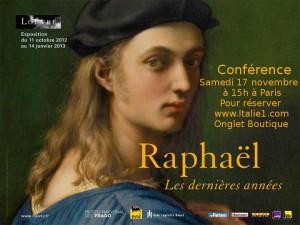Conférence gourmande Raphaël les dernières années