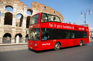 Bus touristiques à Rome