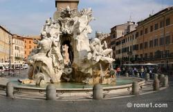 fontaine des quatre fleuves place Navona