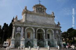 fontaine acqua Paola à Rome