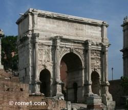 arc de septime sévère dans le forum romain
