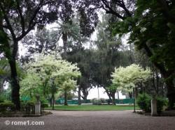jardins du Pincio à Rome