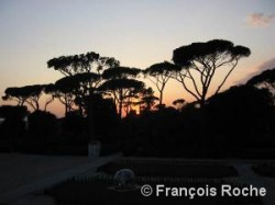 parc du Pincio à Rome