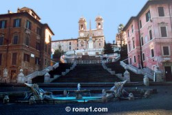escaliers de la place d'Espagne à Rome