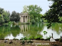 Le parc de la villa Borghese