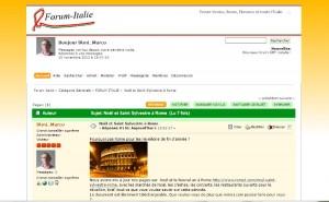 Forum Rome de discussions sur Rome