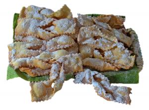 frappe, chiacchierre, beignets de carnaval de Rome