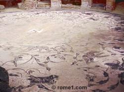 mosaïques de la place des corporations à Ostie