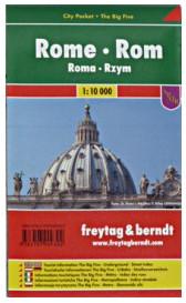 Mini plan de Rome plastifié