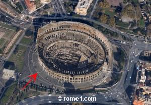 destruction du Colisée de Rome
