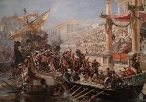 Les fêtes du Colisée et les naumachies