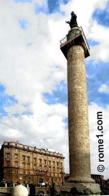 colonne trajane ou colonne de Trajan à Rome
