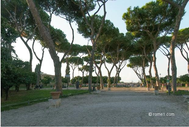 Vue panoramique sur rome for Jardin villa medicis rome