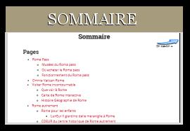 Sommaire du site rome1.com